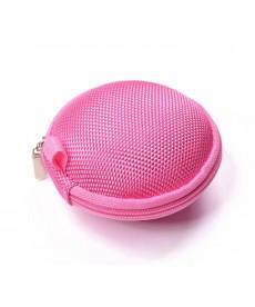 Casti tip fermoar cu microfon in penar roz impermeabil pentru telefoane , iPaduri si alte dispozitive