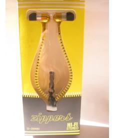 Casti galbene tip fermoar cu microfon pentru telefoane , iPaduri si alte dispozitive