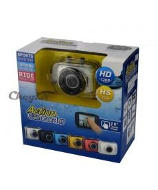 Mini camera sport 720p rezistenta la apa cu display touch screen si accesorii