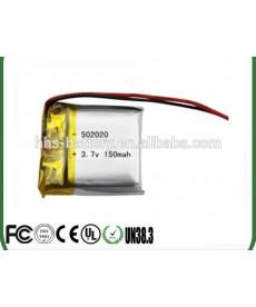 502020 - Acumulator Li-Polymer - 3,7 V - 150mah - 20x20x5 mm