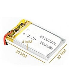 402030 - Acumulator Li-Polymer - 3,7 V - 200mah - 20x30x4 mm