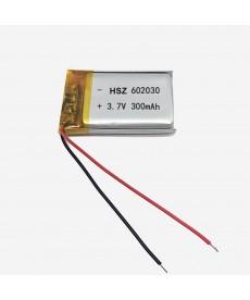 602030 - Acumulator Li-Polymer - 3,7 V - 300mah - 30x20x6 mm