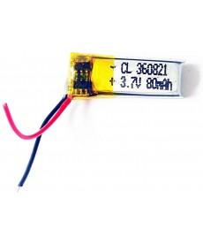360821 - Acumulator Li-Polymer - 3,7 V - 80mah