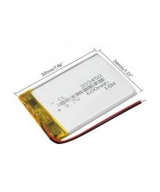 303450 - Acumulator Li-Polymer - 3,7 V - 600mah - 50x34x3 mm